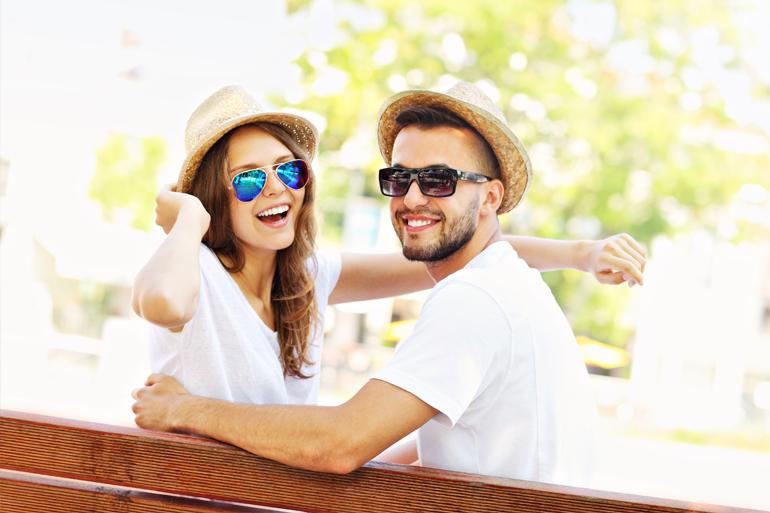 Couple Enjoying Beach Holiday