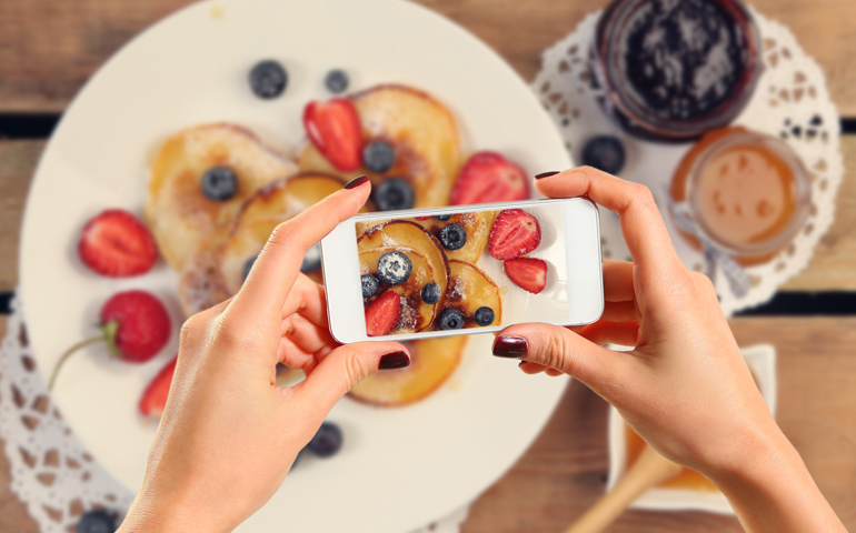 how to set up a food blog