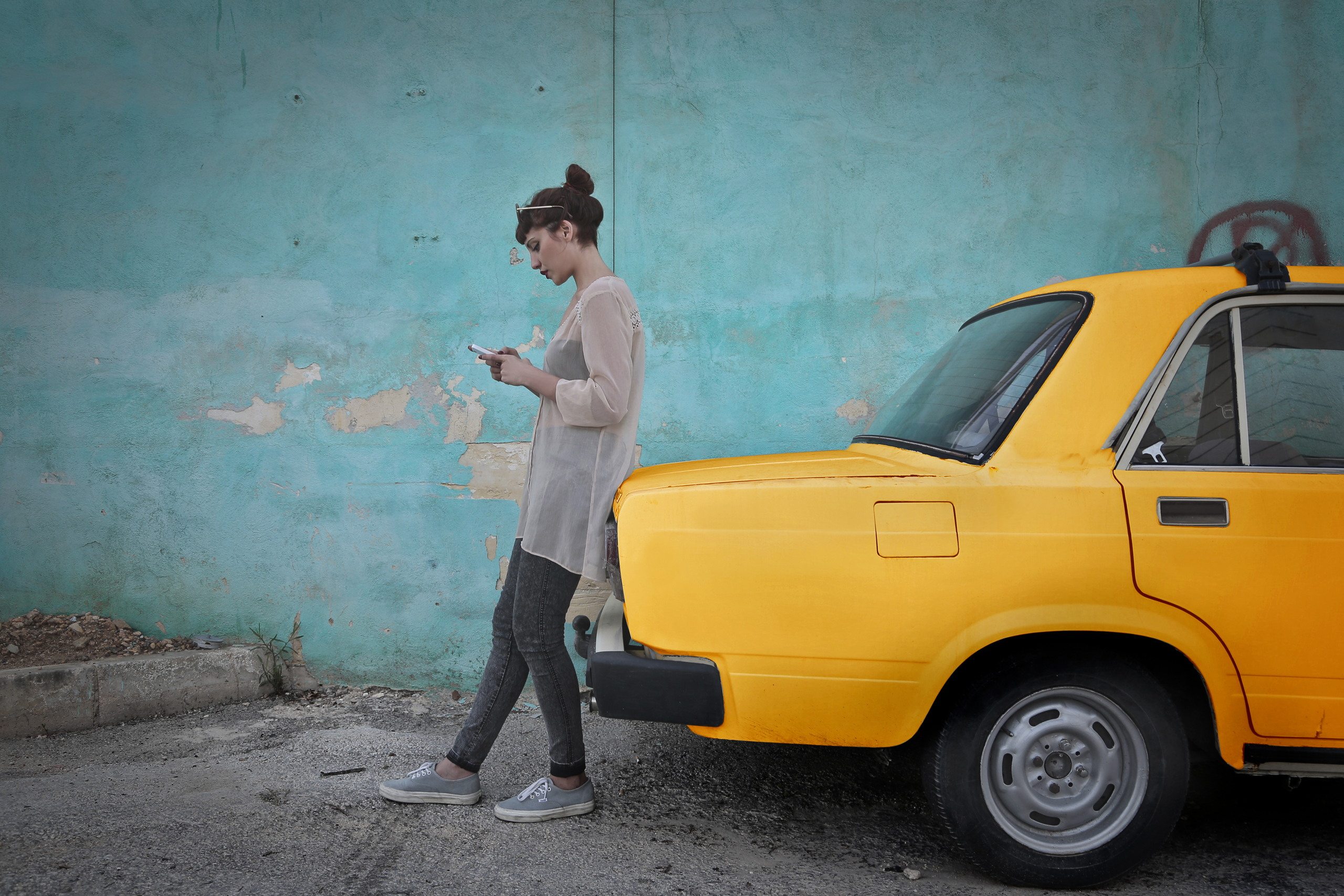 woman-with-yellow-car